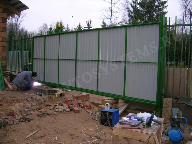 Откатные ворота цена саяногорск фото адаворота