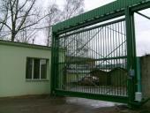 Промышленные откатные ворота подвесного типа